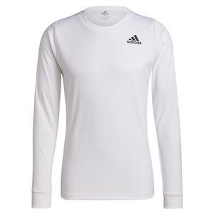 Men`s Freelift Long Sleeve Tennis Top White and Black