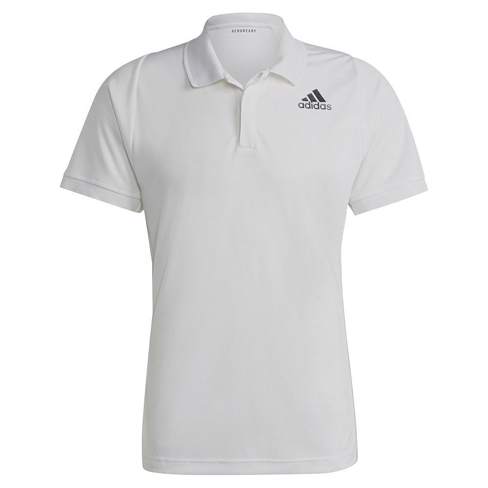 Men's Freelift Tennis Polo White And Black