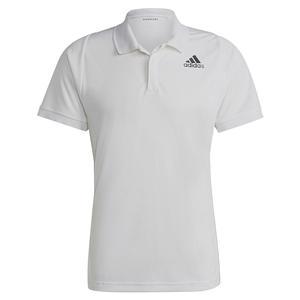 Men`s Freelift Tennis Polo White and Black