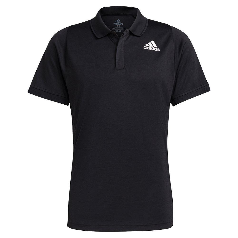 Men's Freelift Tennis Polo Black And White
