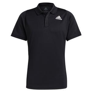 Men`s Freelift Tennis Polo Black and White