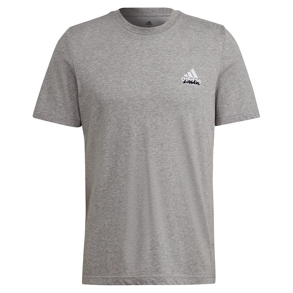 Men's Quiet Please Graphic Tennis T- Shirt Medium Grey Heather