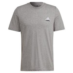 Men`s Quiet Please Graphic Tennis T-Shirt Medium Grey Heather