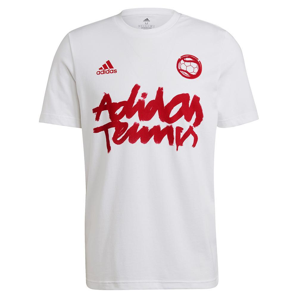 Men's 1v1 Graphic Tennis T- Shirt White