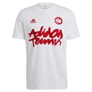 Men`s 1v1 Graphic Tennis T-Shirt White