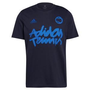 Men`s 1v1 Graphic Tennis T-Shirt Legend Ink