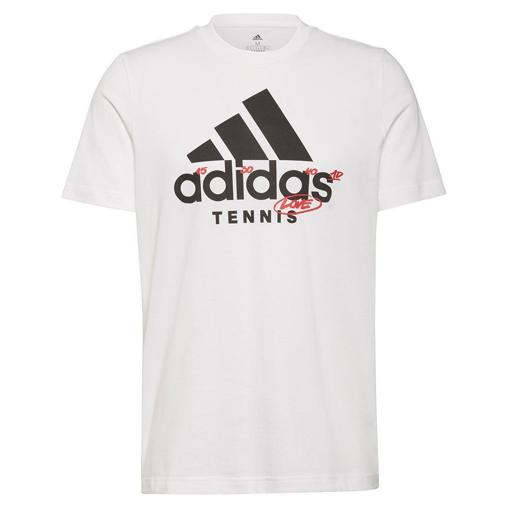 Men's Graphic Logo Tennis T- Shirt White