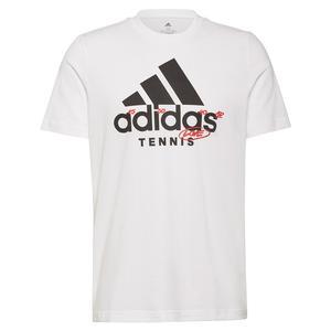 Men`s Graphic Logo Tennis T-Shirt White