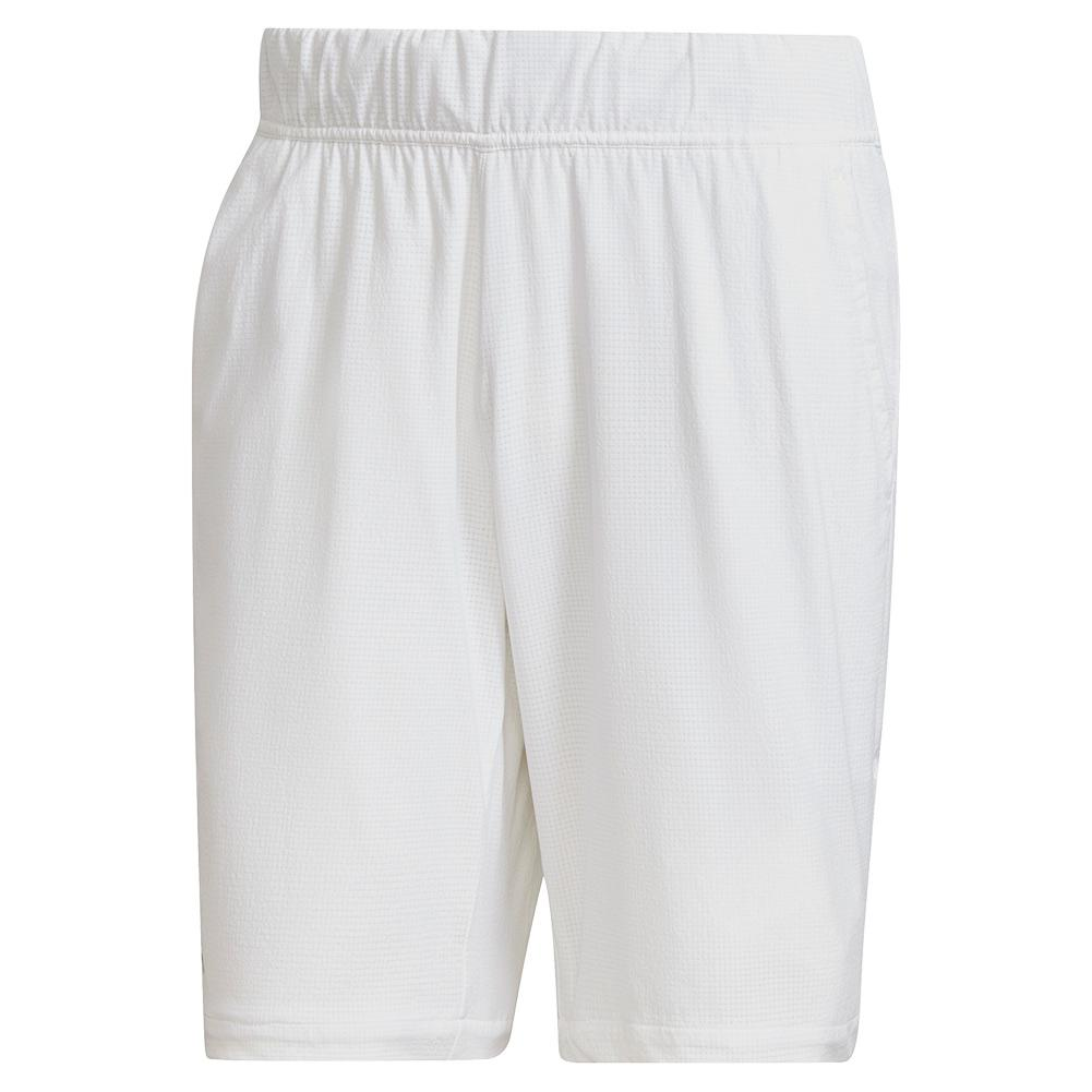 Men's Ergo 9 Inch Tennis Short White And Black