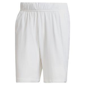 Men`s Ergo 7 Inch Tennis Short White and Black