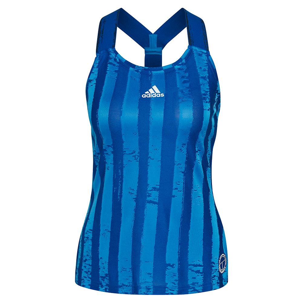 Women's Eng Y- Back Tennis Tank Team Royal Blue And White