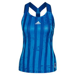 Women`s Eng Y-Back Tennis Tank Team Royal Blue and White
