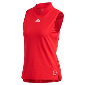 Women`s Two Match Eng Tennis Tank Scarlet and Signal Pink