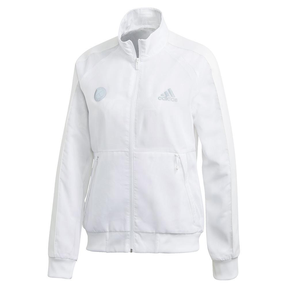 Women's Team Uniforia Tennis Jacket White And Reflective Silver