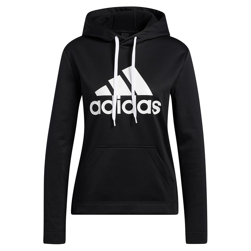Women's Game And Go Big Logo Hoodie Black And Chalk White