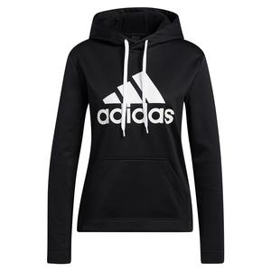 Women`s Game and Go Big Logo Hoodie Black and Chalk White