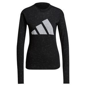 Women`s Sportswear Winners 2.0 Long Sleeve Top Black Melange