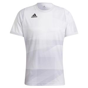 Men`s Primeblue HEAT.RDY Freelift Tokyo Tennis Top White and Dash Grey