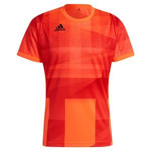 Men`s Primeblue HEAT.RDY Freelift Tokyo Tennis Top App Solar Red and Black