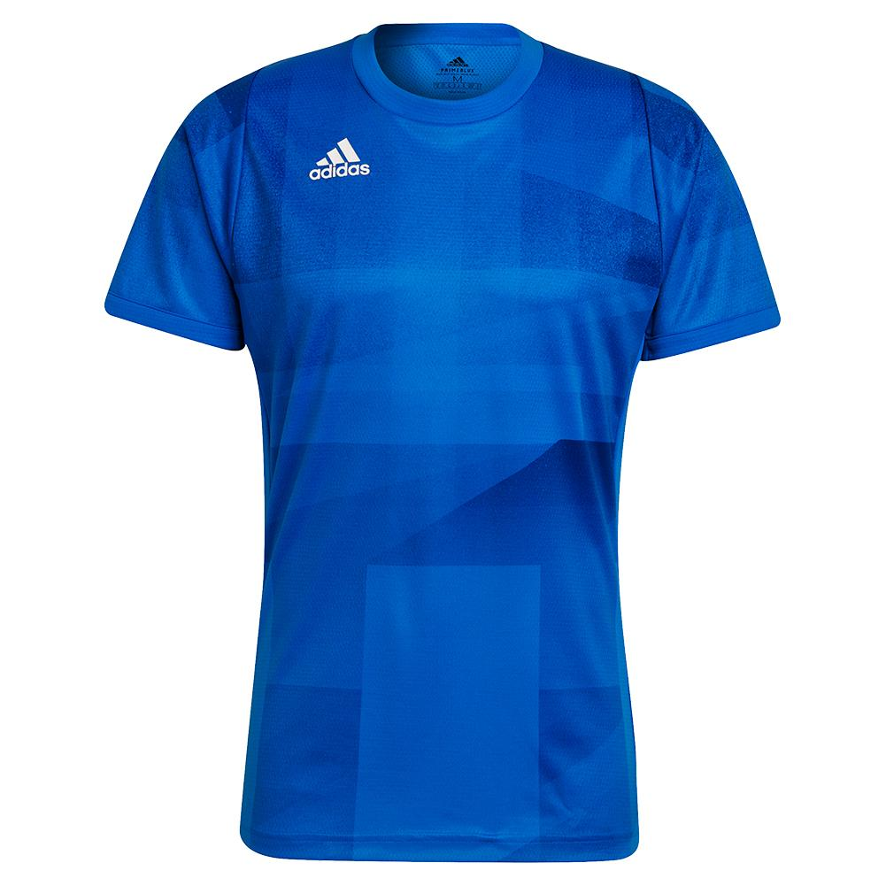 Men's Primeblue Heat.Rdy Freelift Tokyo Tennis Top Glory Blue And White