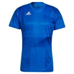 Men`s Primeblue HEAT.RDY Freelift Tokyo Tennis Top Glory Blue and White
