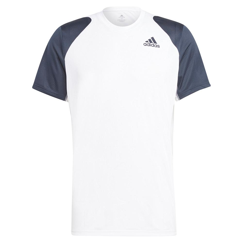 Men's Club Tennis Top White And Legend Ink
