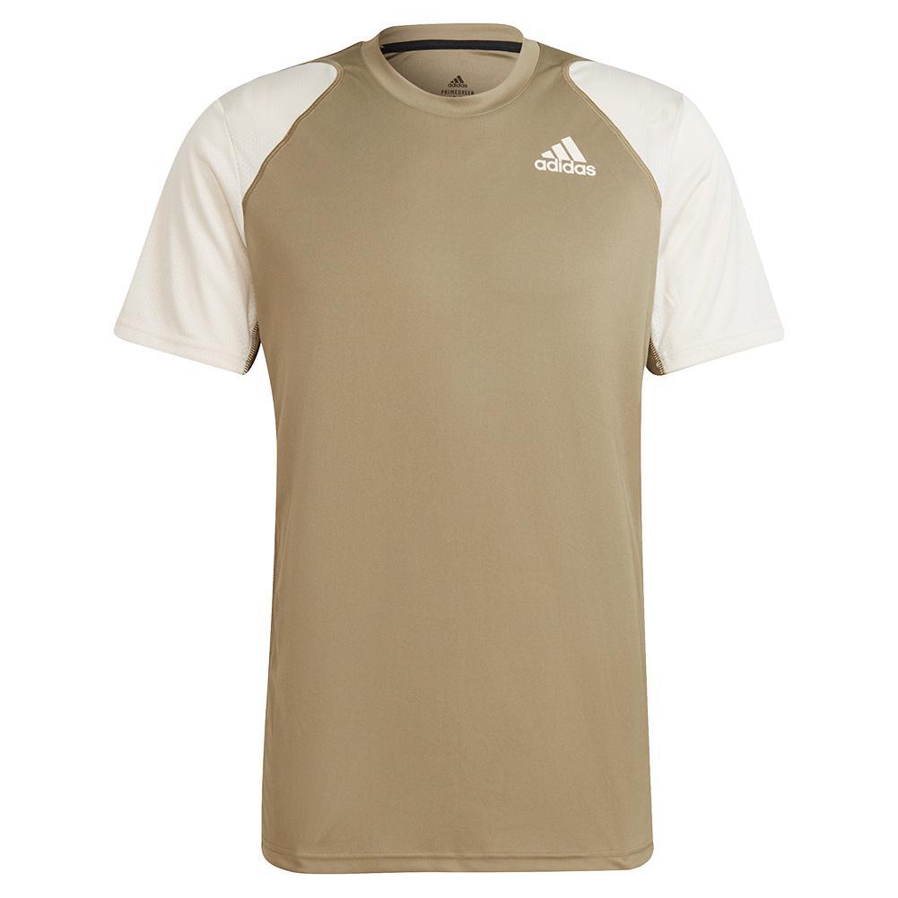 Men's Club Tennis Top Orbit Green And Wonder White