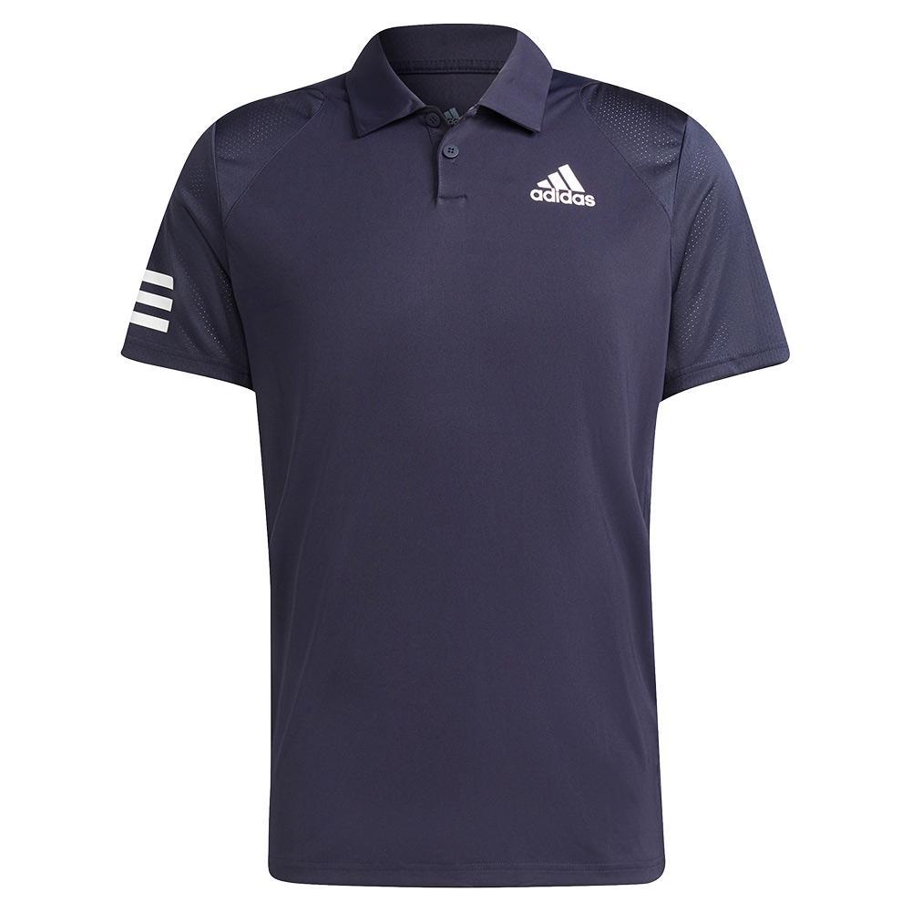 Men's Club 3- Stripe Tennis Polo Legend Ink And White