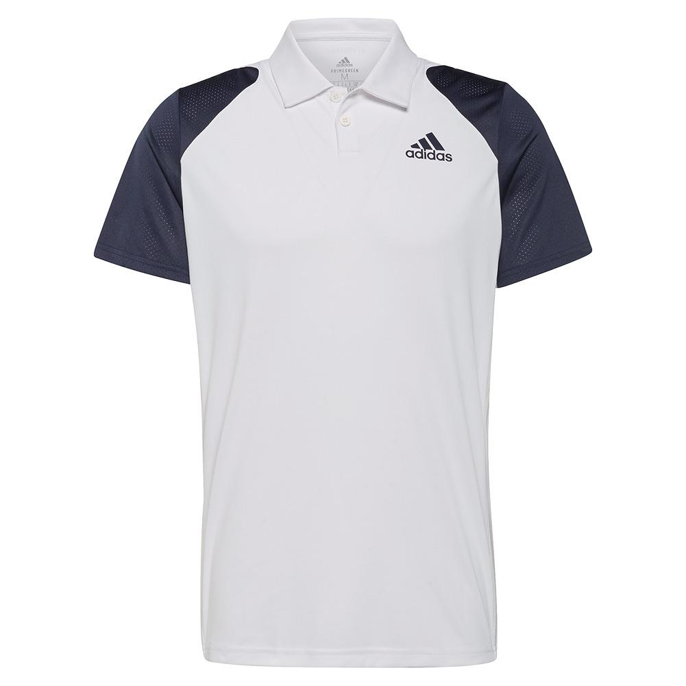 Men's Club Tennis Polo White And Legend Ink