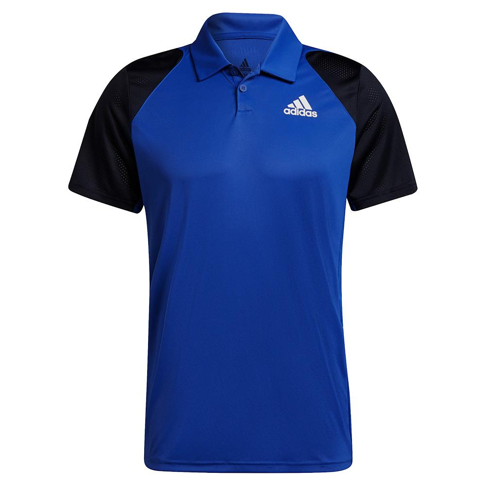 Men's Club Tennis Polo Bold Blue And Legend Ink