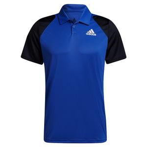 Men`s Club Tennis Polo Bold Blue and Legend Ink