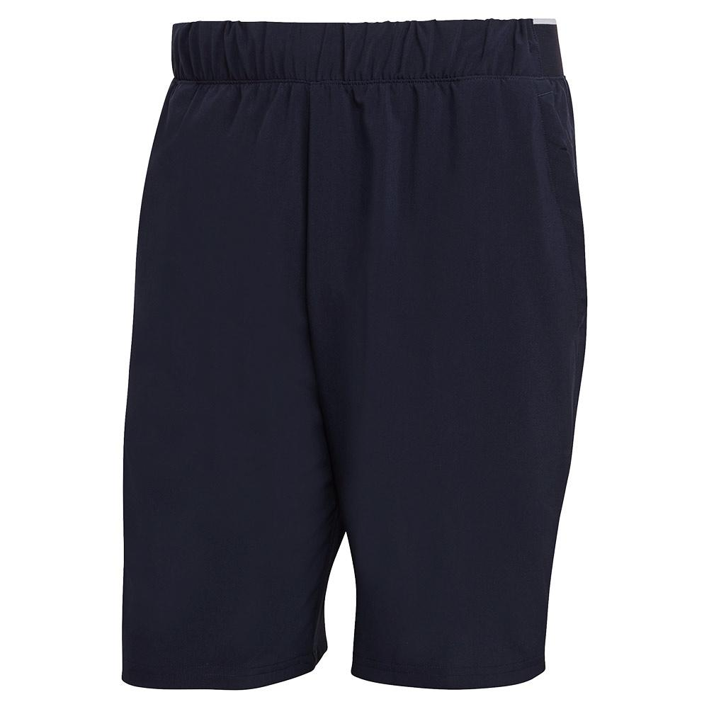 Men's Club Stretch Woven 9 Inch Tennis Short Legend Ink And White