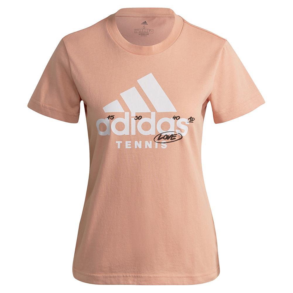 Women's Graphic Logo Tennis T- Shirt Ambient Blush