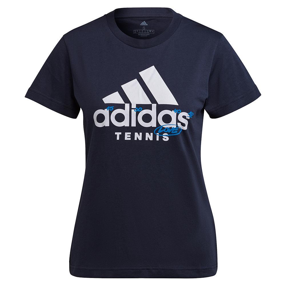 Women's Graphic Logo Tennis T- Shirt Legend Ink