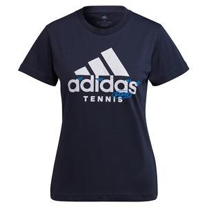 Women`s Graphic Logo Tennis T-Shirt Legend Ink