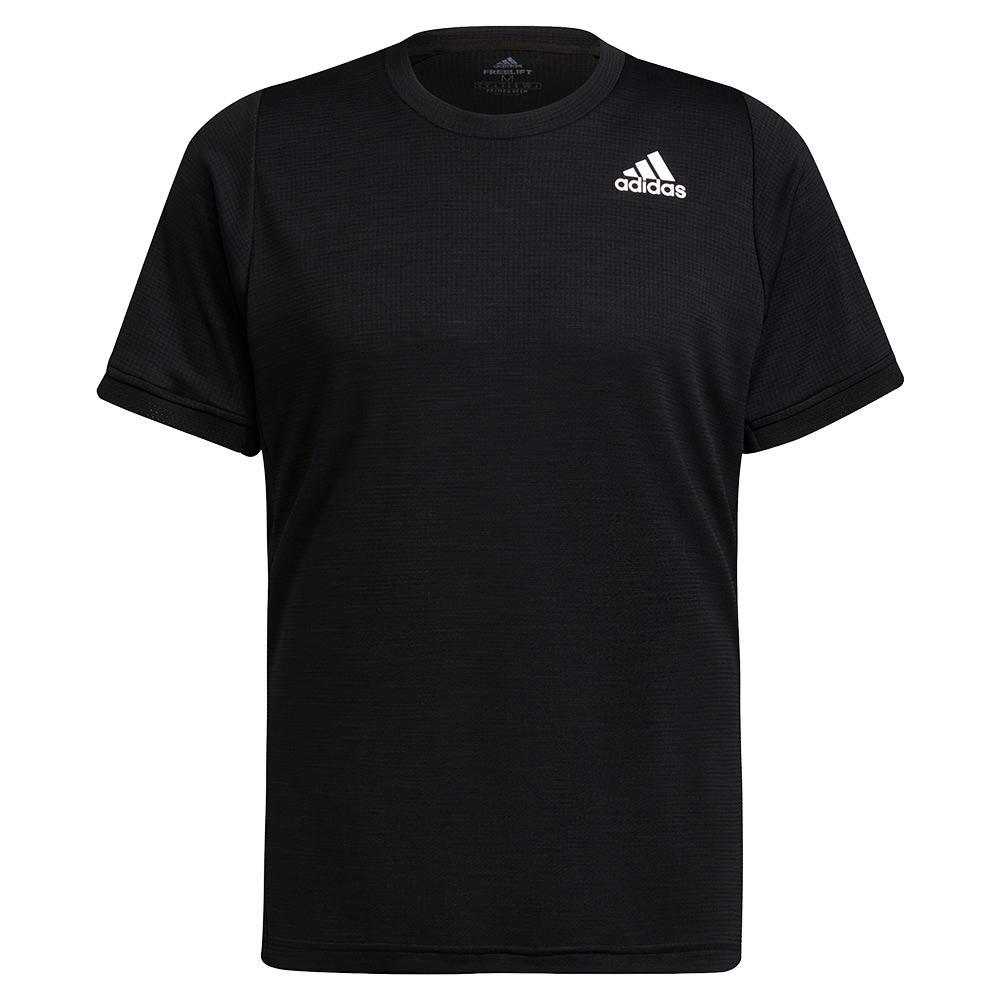 Men's Freelift Tennis Top Black And White