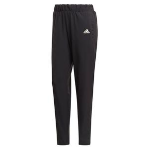 Women`s Primeblue Woven Tennis Pant Black and White