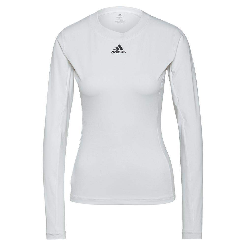 Women's Heat.Rdy Freelift Long Sleeve Tennis Top White And Black