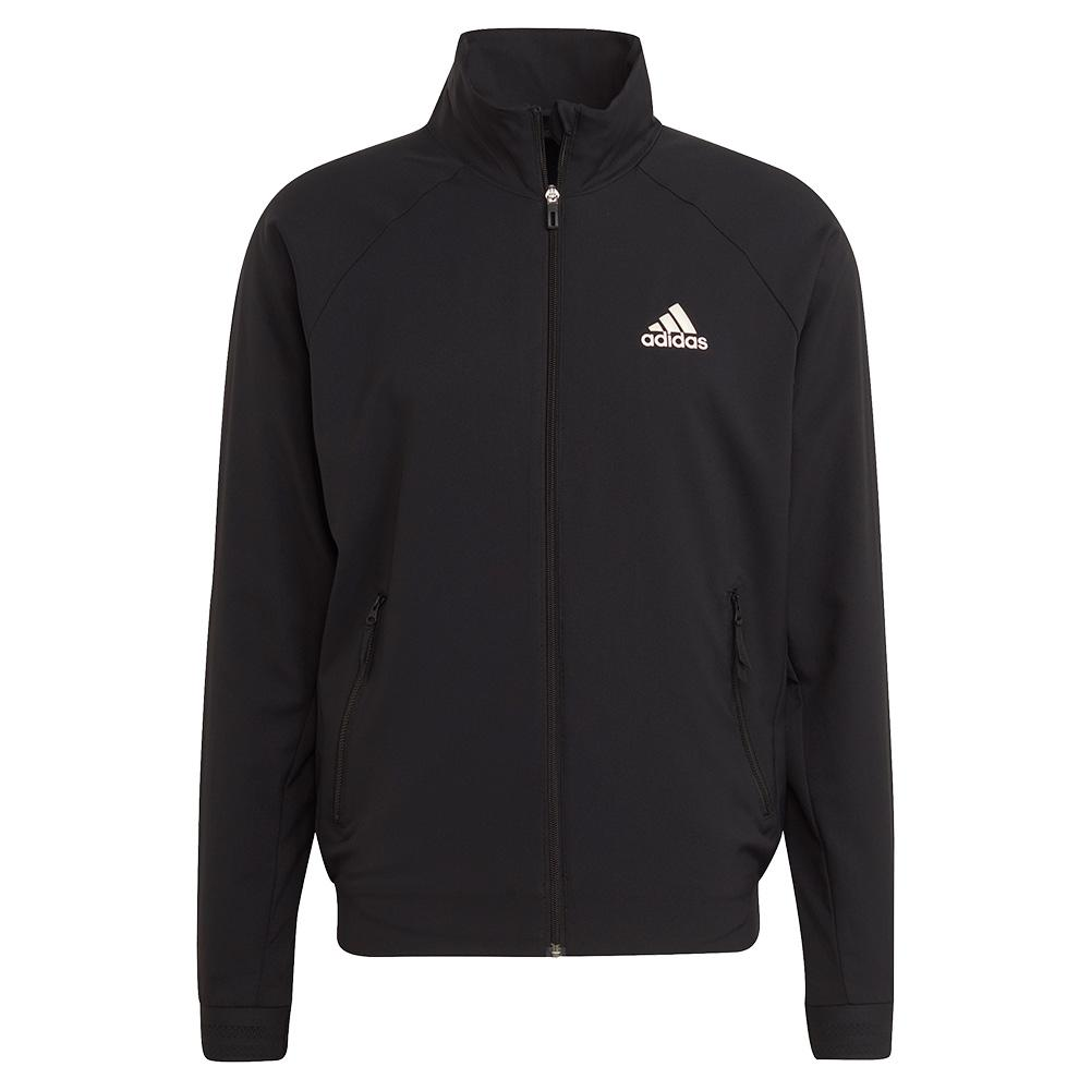 Men's Primeblue Stretch Woven Tennis Jacket Black And Wonder White