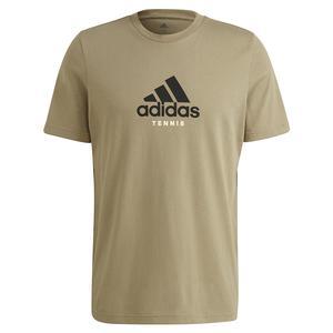 Men`s NYC Fence Graphic Tennis T-Shirt Orbit Green