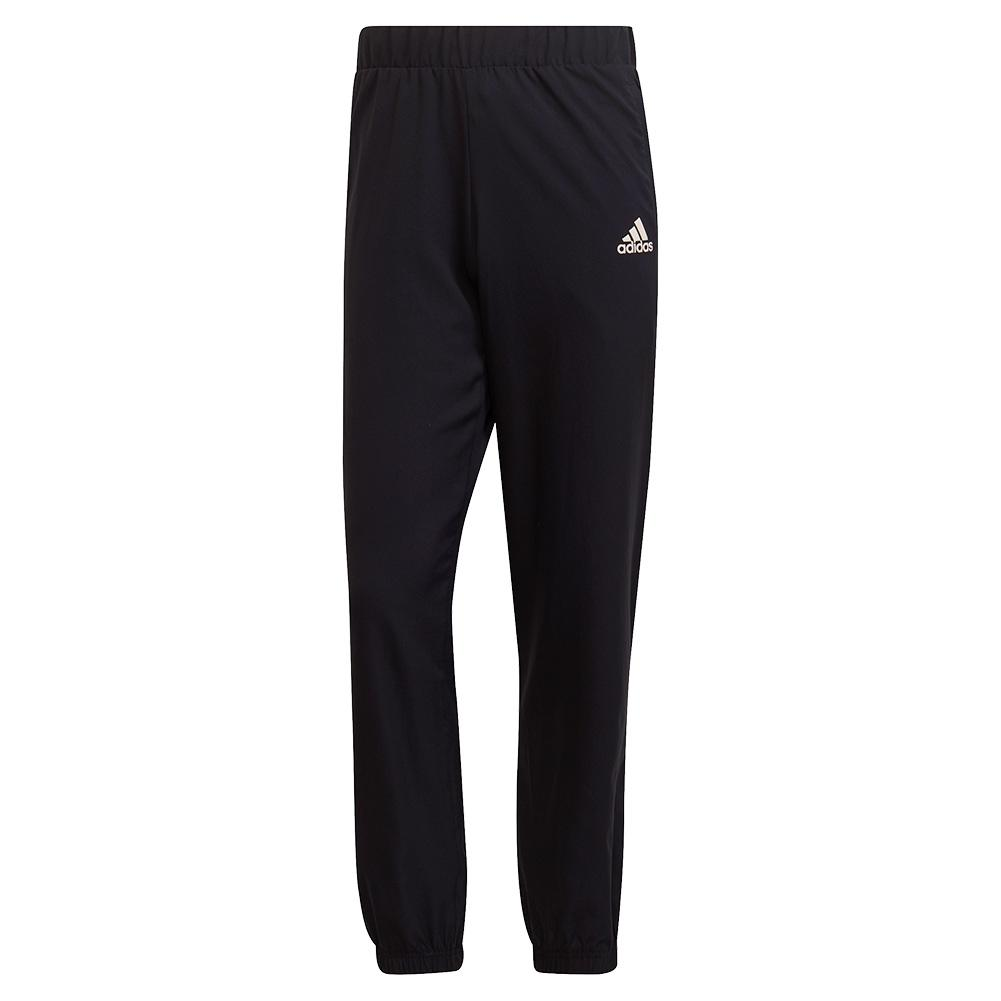 Men's Primeblue Stretch Woven Tennis Pant Black And White