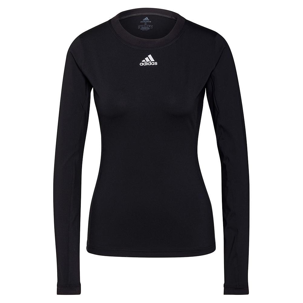 Women's Heat.Rdy Freelift Long Sleeve Tennis Top Black And White