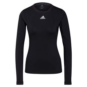 Women`s HEAT.RDY Freelift Long Sleeve Tennis Top Black and White
