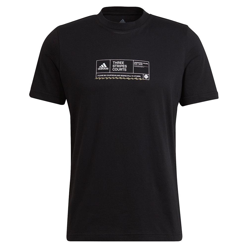 Men's Nyc Sign In Sheet Graphic Tennis T- Shirt Black