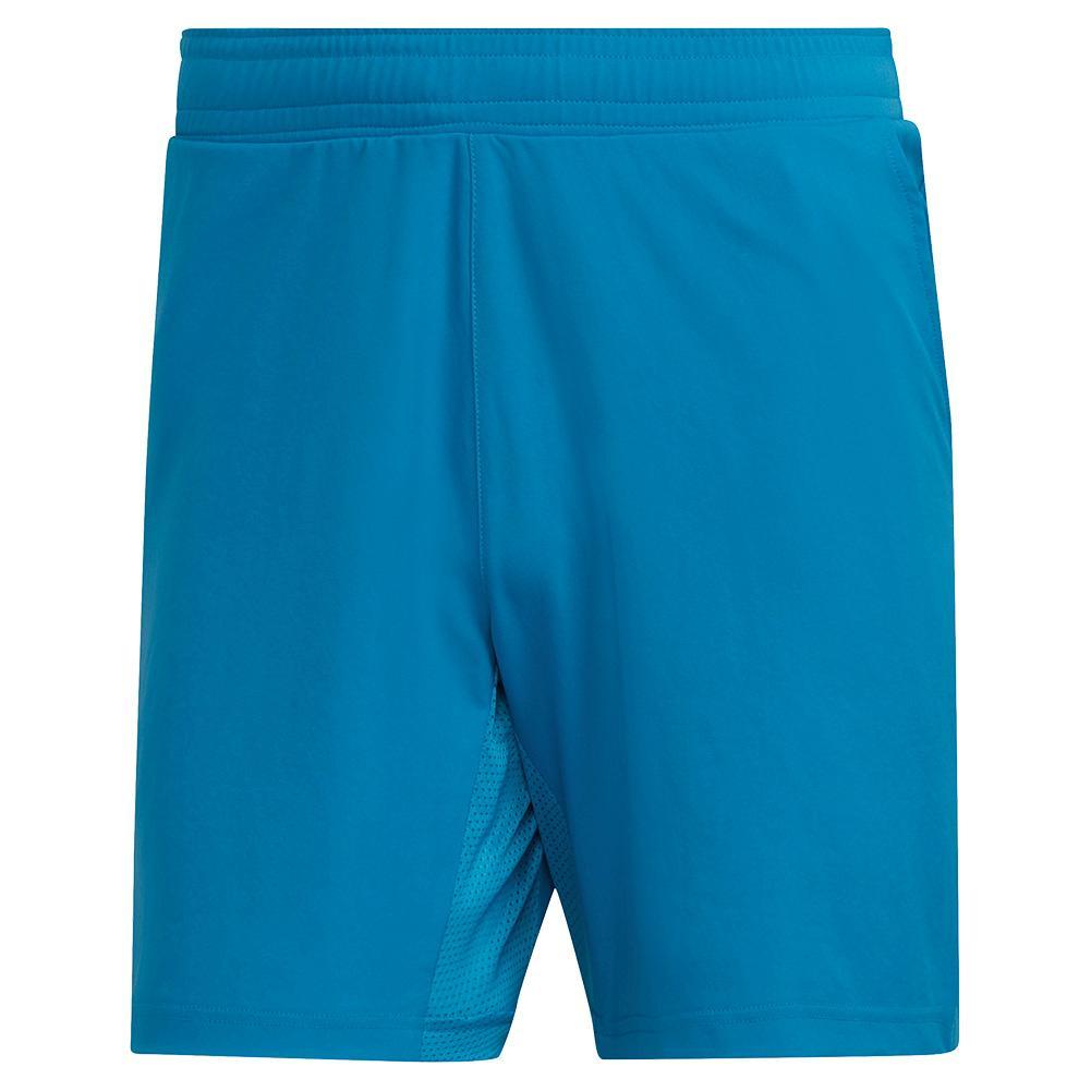 Men's Primeblue Ergo 7 Inch Tennis Short Sonic Aqua