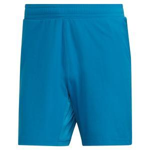 Men`s Primeblue Ergo 7 Inch Tennis Short Sonic Aqua