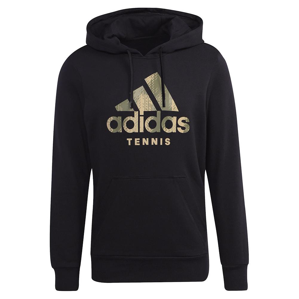Men's Category Graphic Tennis Hoody Black And Beige Tone
