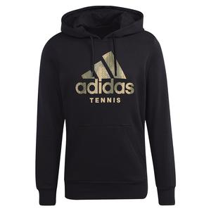 Men`s Category Graphic Tennis Hoody Black and Beige Tone