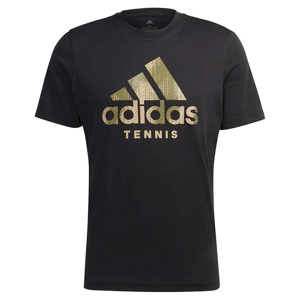 Men's Category Camo Tennis T- Shirt Black