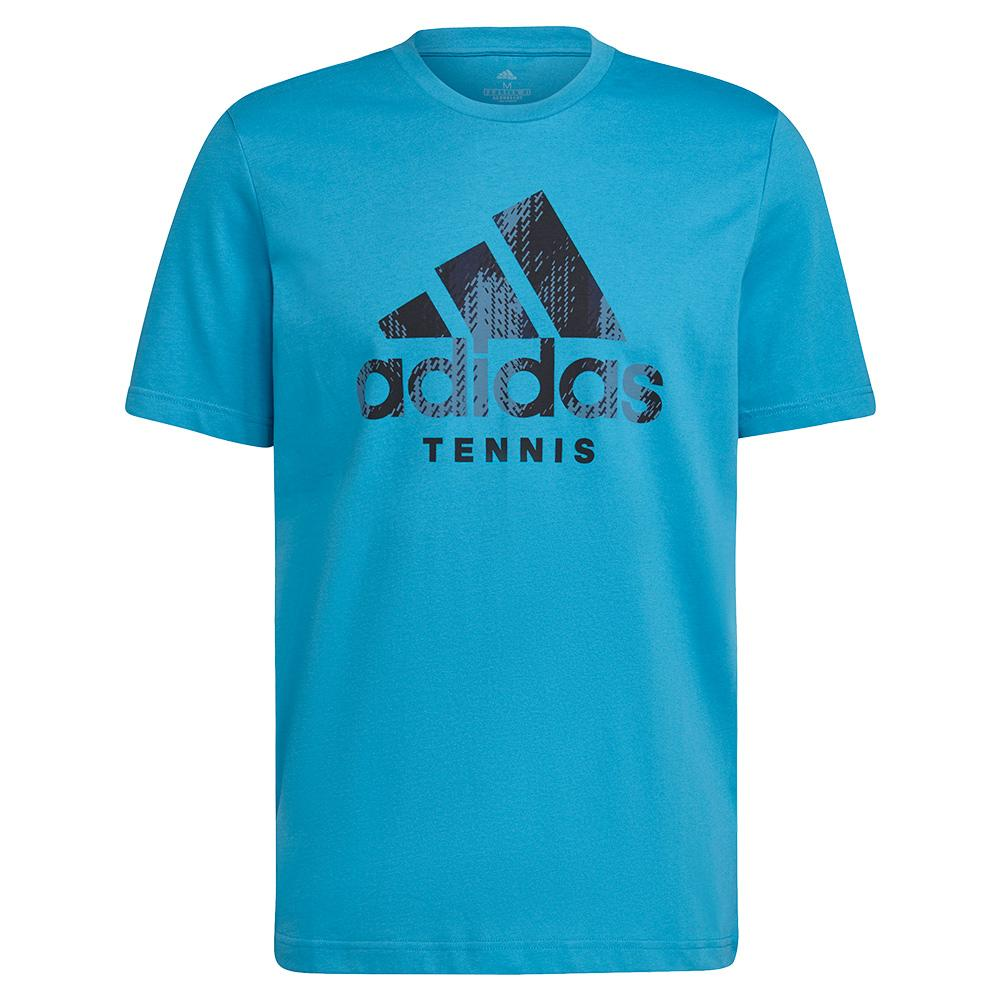 Men's Category Camo Tennis T- Shirt Sonic Aqua